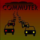 Commuter illustration Royalty Free Stock Image