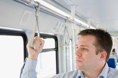Commuter on light rail Royalty Free Stock Photo