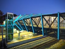 Commuter Overpass (Night) Stock Photo