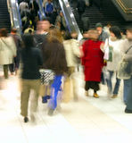 Commuter pass 1. A train station crowd in motion Royalty Free Stock Photos