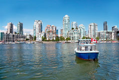 Commuter Passenger Ferry in False Creek, Vancouver, British Columbia, Canada stock photo