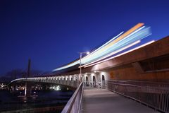 Commuter Rail at Dawn, Vancouver Stock Images