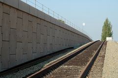 Commuter rail siding Stock Images