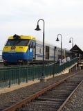 Commuter railrroad train station Montauk New York USA Royalty Free Stock Photos