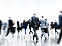 Commuter Rush Hour Travel Waking Business Concept Royalty Free Stock Photo
