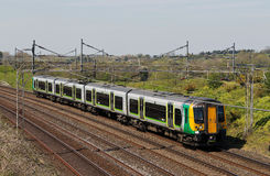 Commuter southbound train Stock Photos