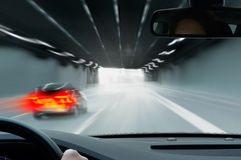 Commuter Traffic - Urban Tunnel Royalty Free Stock Photography