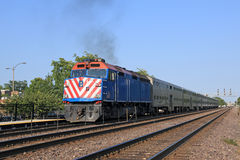 Commuter train approaching Royalty Free Stock Images