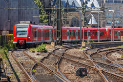 Commuter Train in Germany Royalty Free Stock Photography