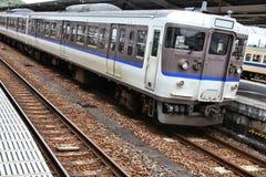 Commuter train in Japan. Generic regional commuter train in Chugoku region, Japan. Contemporary railroad locomotive stock image
