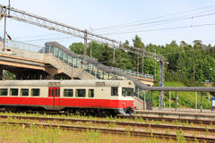 Commuter Train at a Railway Station Royalty Free Stock Image