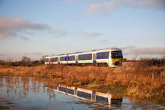 Commuter train service Stock Images