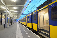 Commuter train on a station Royalty Free Stock Image