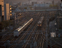 Commuter trains, Kyoto, Japan. Stock Image