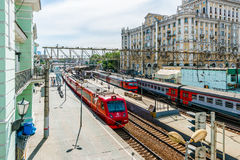 Commuter trains of Moscow Royalty Free Stock Images
