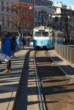 Commuter tram, Sweden. Gothenburg. Royalty Free Stock Images