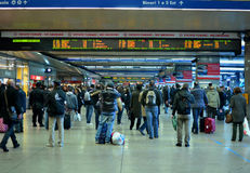 Commuters. And ordinary travellers in Termini railway station in Rome, Italy Royalty Free Stock Images