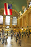 Commuters. In blurred motion at Grand Central terminal Royalty Free Stock Photography