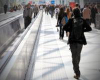 Commuters background, intentionally blurred post production Royalty Free Stock Image