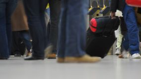 Commuters through a busy public space Stock Images