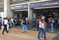 Commuters in Caracas, Venezuela. CARACAS,VENEZUELA-MAY9: Commuters are seen at a subway station on May9, 2013 in Caracas, Venezuela. Municipal elections will be Royalty Free Stock Images
