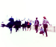 Commuters in the City of United Kingdom Stock Photography