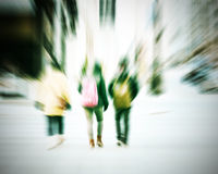 Commuters crossing at rush hour Royalty Free Stock Photo