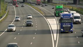 commuters on Dutch Highway
