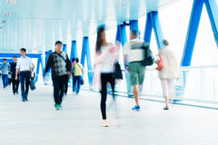 Commuters in Hong Kong. Motion blurred commuters in Hong Kong Stock Image