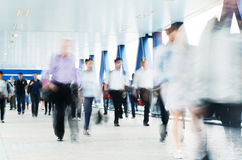 Commuters in Hong Kong. Motion blurred commuters in Hong Kong Stock Photography