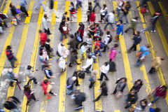 Commuters in Hong Kong. Royalty Free Stock Photos