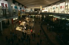 Commuters at a Johannesburg station Royalty Free Stock Images
