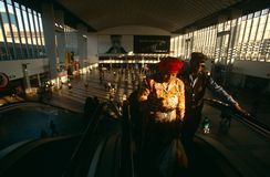 Commuters at a Johannesburg station. Commuters at a station in Johannesburg, South Africa Stock Images