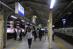Commuters Kobe Japan. Commuters at JR Sannomiya Station in Kobe Japan Stock Photography