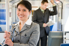 Commuters on light rail Stock Photography