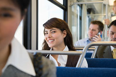 Commuters on light rail Royalty Free Stock Photography