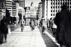 Commuters in London. Morning commuters in London, Uk Stock Photography