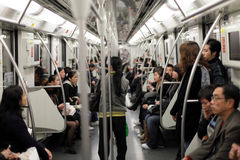 Commuters in the metro. Of Shanghai, China Stock Image