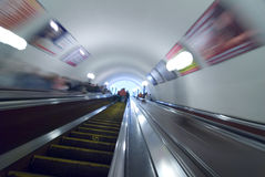 Commuters in Moscow metro Stock Photos