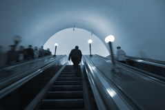 Commuters in Moscow metro Royalty Free Stock Photography