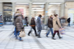 Commuters in motion blur. People Walking, commuters in motion blur Stock Photo
