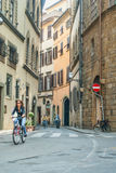 Commuters on Narrow Streets Royalty Free Stock Photo