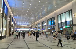 Commuters Osaka Japan. Commuters at Osaka Station in Osaka Japan Royalty Free Stock Images