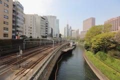 Commuters on platform of Ochanomizu station Stock Photography