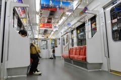 Commuters ride Tokyo metro transit system in Tokyo Stock Photos