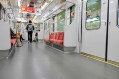 Commuters ride Tokyo metro transit system in Tokyo Royalty Free Stock Image