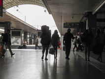 Commuters in Rome. ROME, ITALY - CIRCA SEPTEMBER 2011: commuters at the main railway station Roma Termini Stock Photo