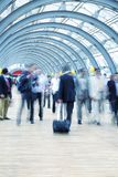 Commuters rushing in corridor, motion blur Royalty Free Stock Image