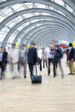 Commuters rushing in corridor, motion blur Royalty Free Stock Photos