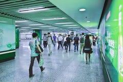 Commuters at a subway station, Shanghai, China Royalty Free Stock Photos